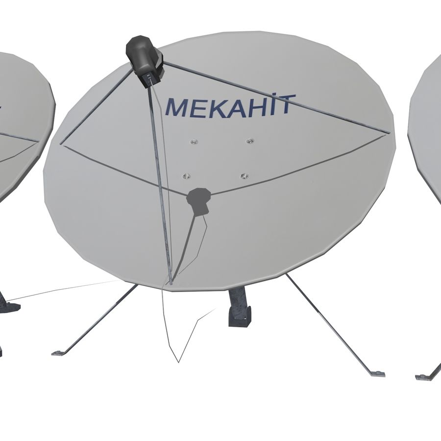 Satellietschotel Mc-01 royalty-free 3d model - Preview no. 3