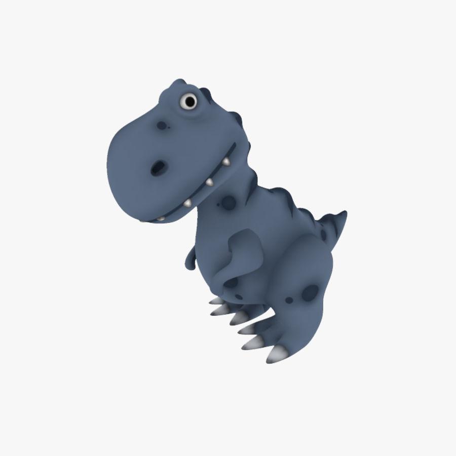 Dinosaurio De Dibujos Animados Trex Modelo 3d 10 C4d Obj Fbx