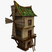 Mill (low poly) 3d model