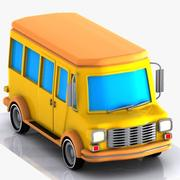 Cartoon Minibus 1 3d model