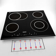 Cooking touch panel 3d model