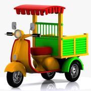 Cartoon Motorcycle 1 3d model