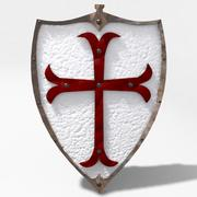 templar knight shield 3d model