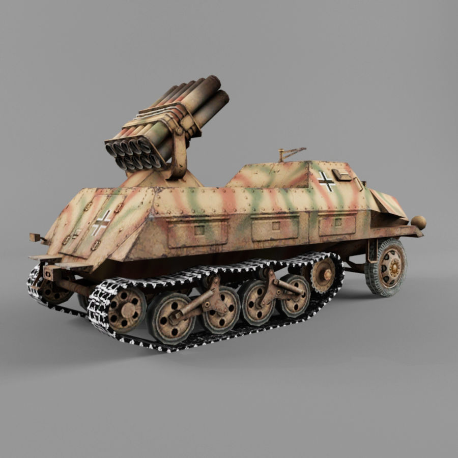 Sdkfz 4 royalty-free 3d model - Preview no. 5