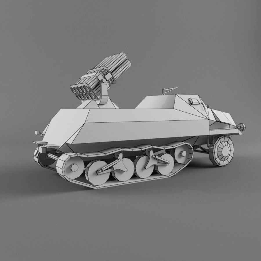 Sdkfz 4 royalty-free 3d model - Preview no. 12