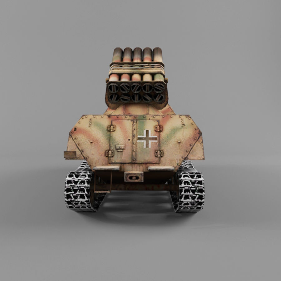 Sdkfz 4 royalty-free 3d model - Preview no. 4
