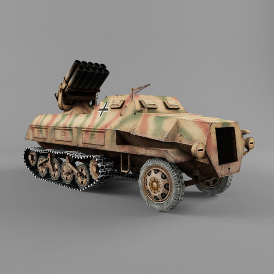 Sdkfz 4 royalty-free 3d model - Preview no. 7