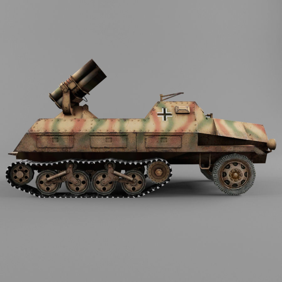 Sdkfz 4 royalty-free 3d model - Preview no. 6