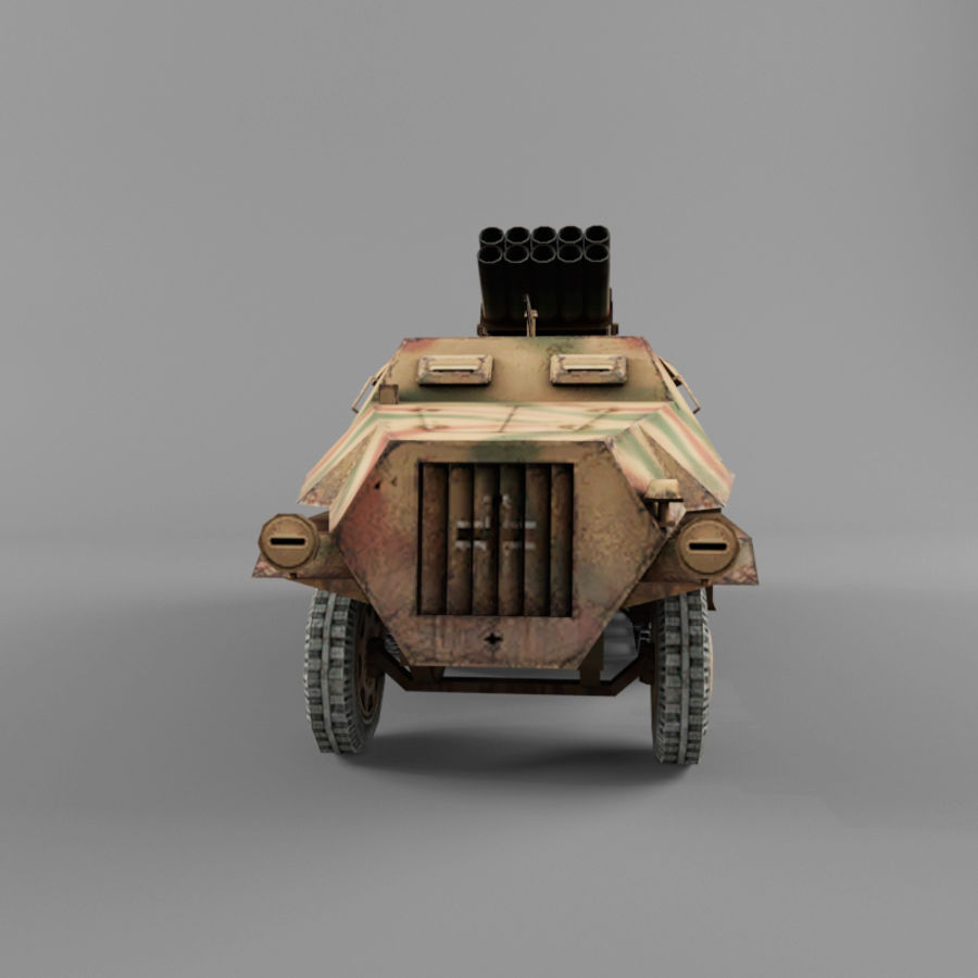 Sdkfz 4 royalty-free 3d model - Preview no. 8