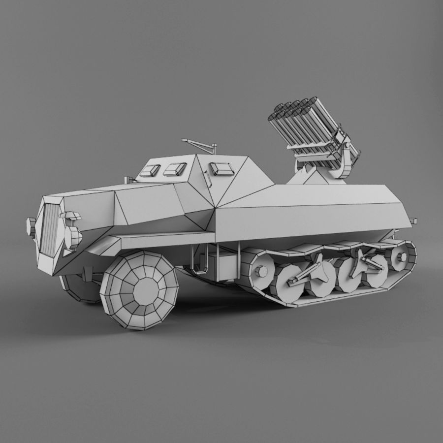Sdkfz 4 royalty-free 3d model - Preview no. 11