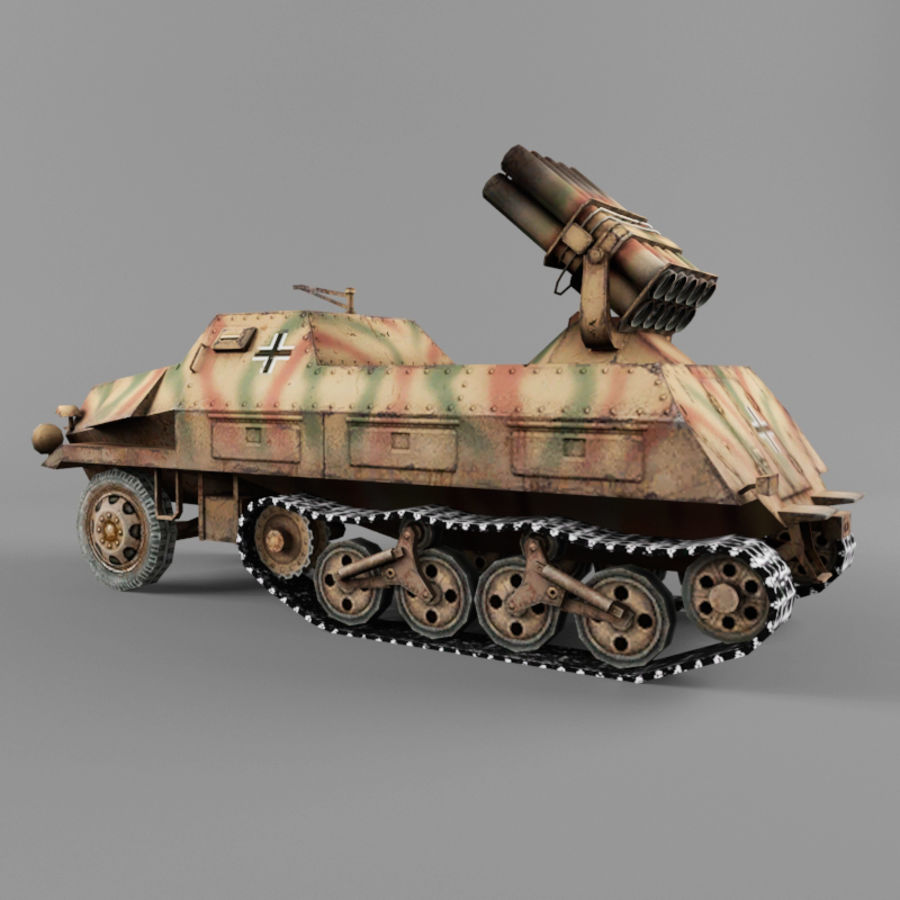 Sdkfz 4 royalty-free 3d model - Preview no. 3