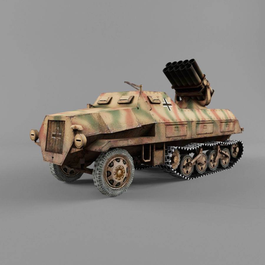 Sdkfz 4 royalty-free 3d model - Preview no. 1