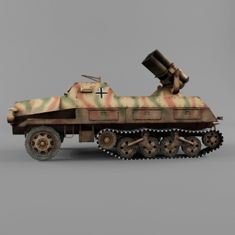 Sdkfz 4 royalty-free 3d model - Preview no. 2