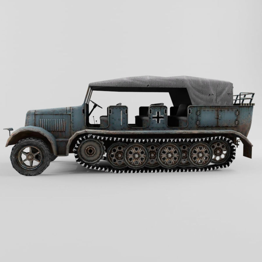 SdKfz 7 royalty-free 3d model - Preview no. 14