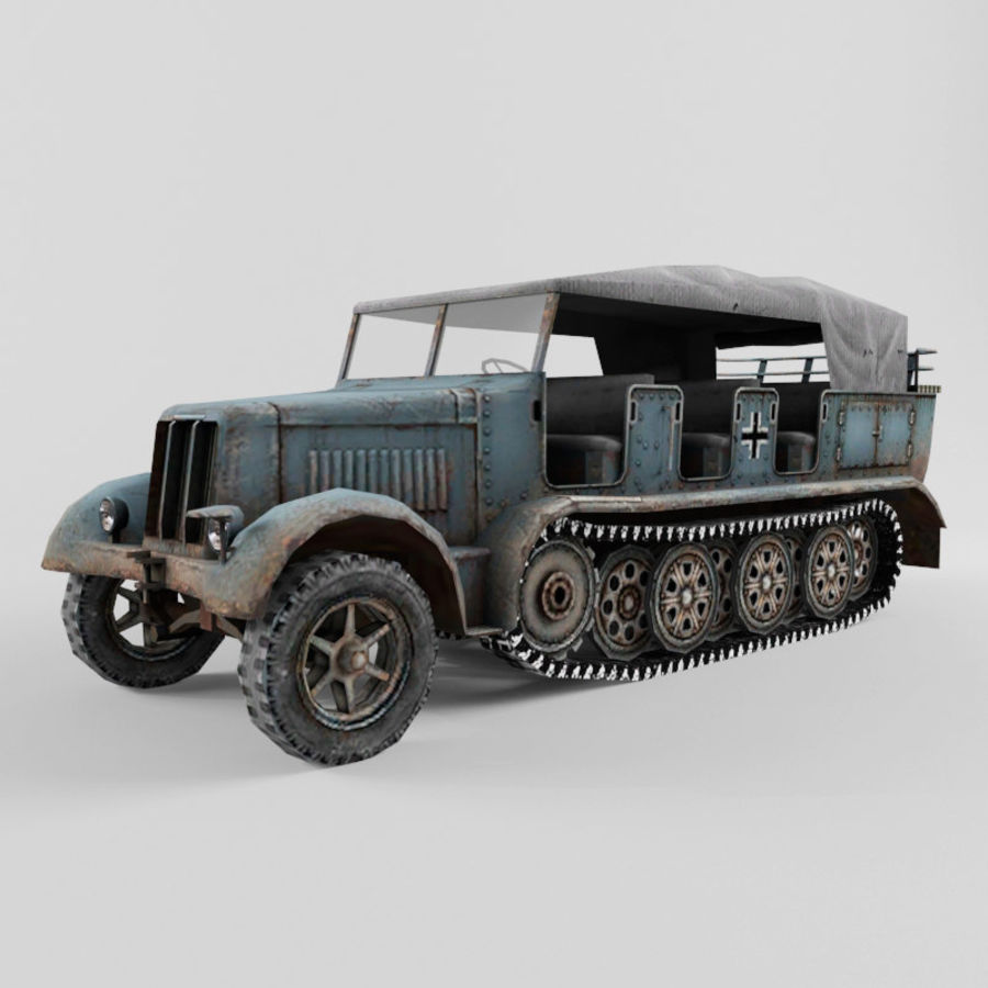 SdKfz 7 royalty-free 3d model - Preview no. 1