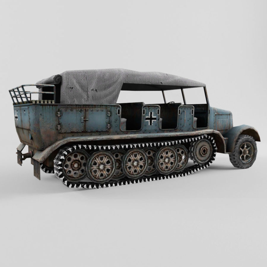 SdKfz 7 royalty-free 3d model - Preview no. 5