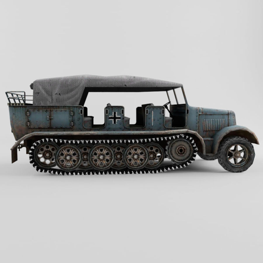 SdKfz 7 royalty-free 3d model - Preview no. 6