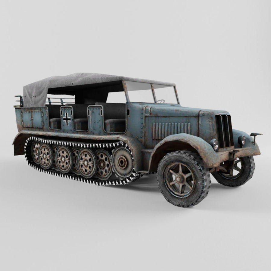 SdKfz 7 royalty-free 3d model - Preview no. 7