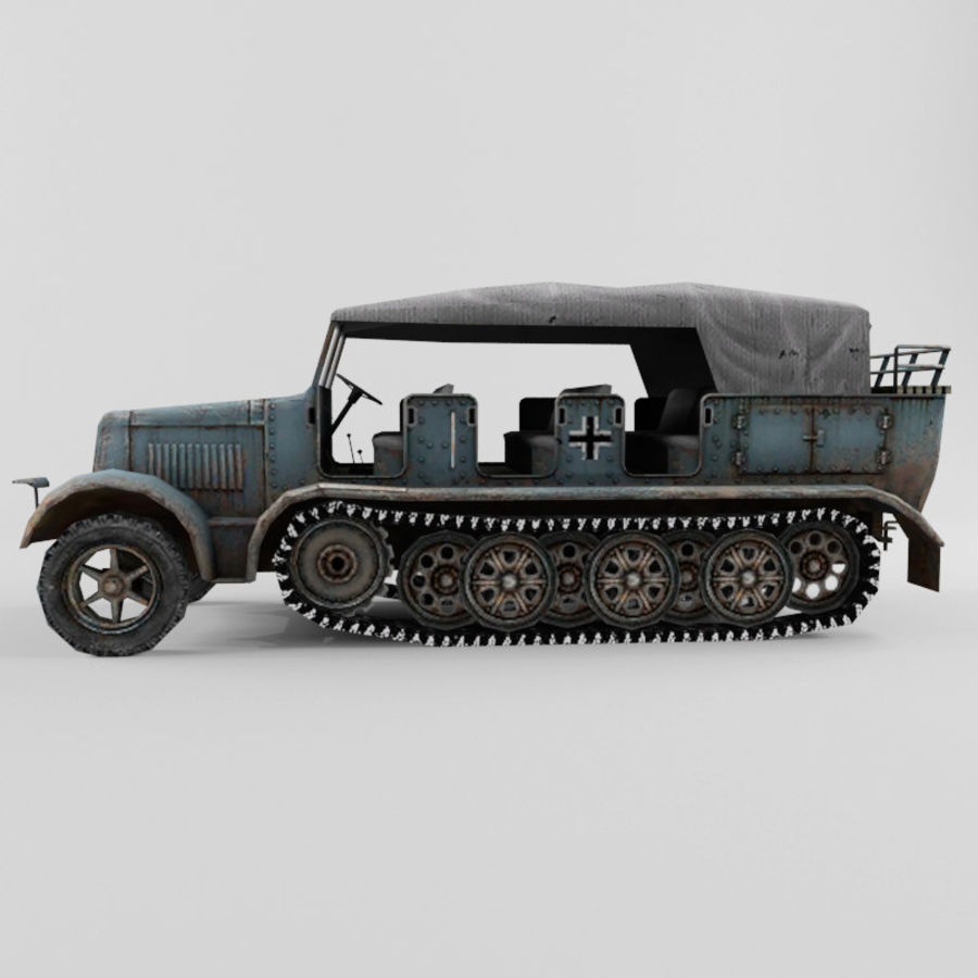 SdKfz 7 royalty-free 3d model - Preview no. 2