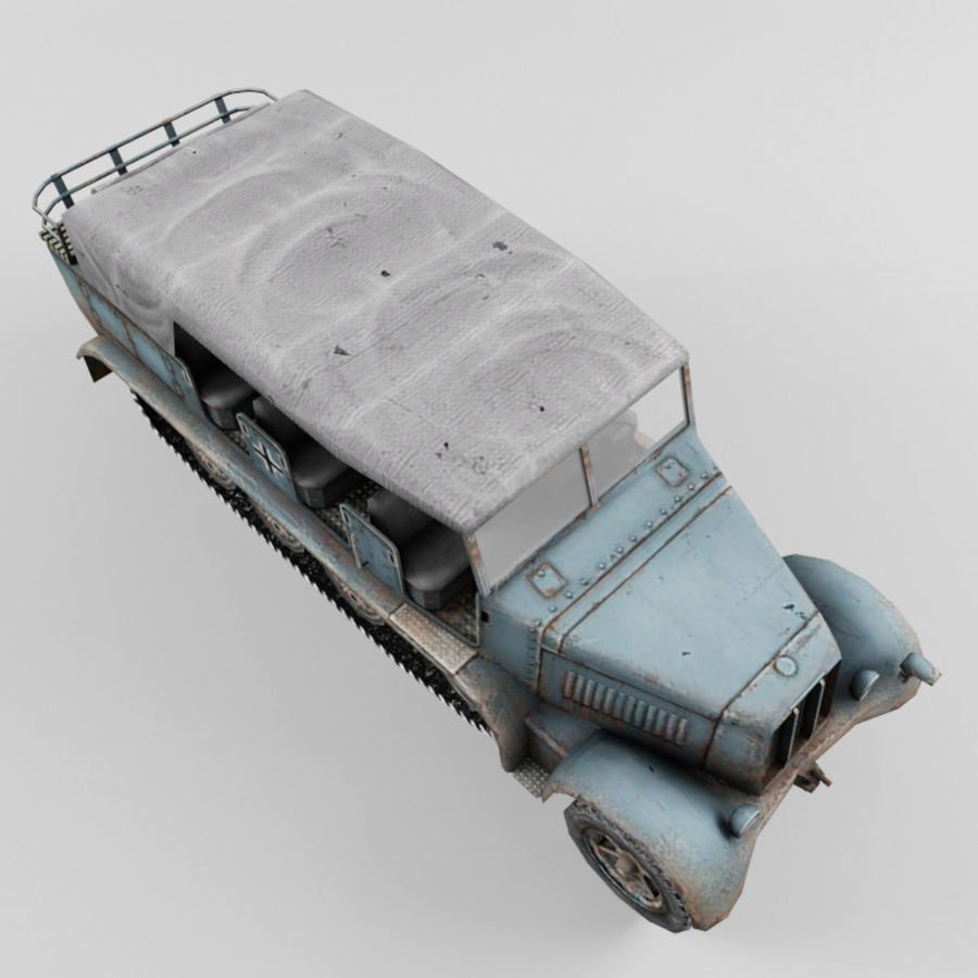 SdKfz 7 royalty-free 3d model - Preview no. 9