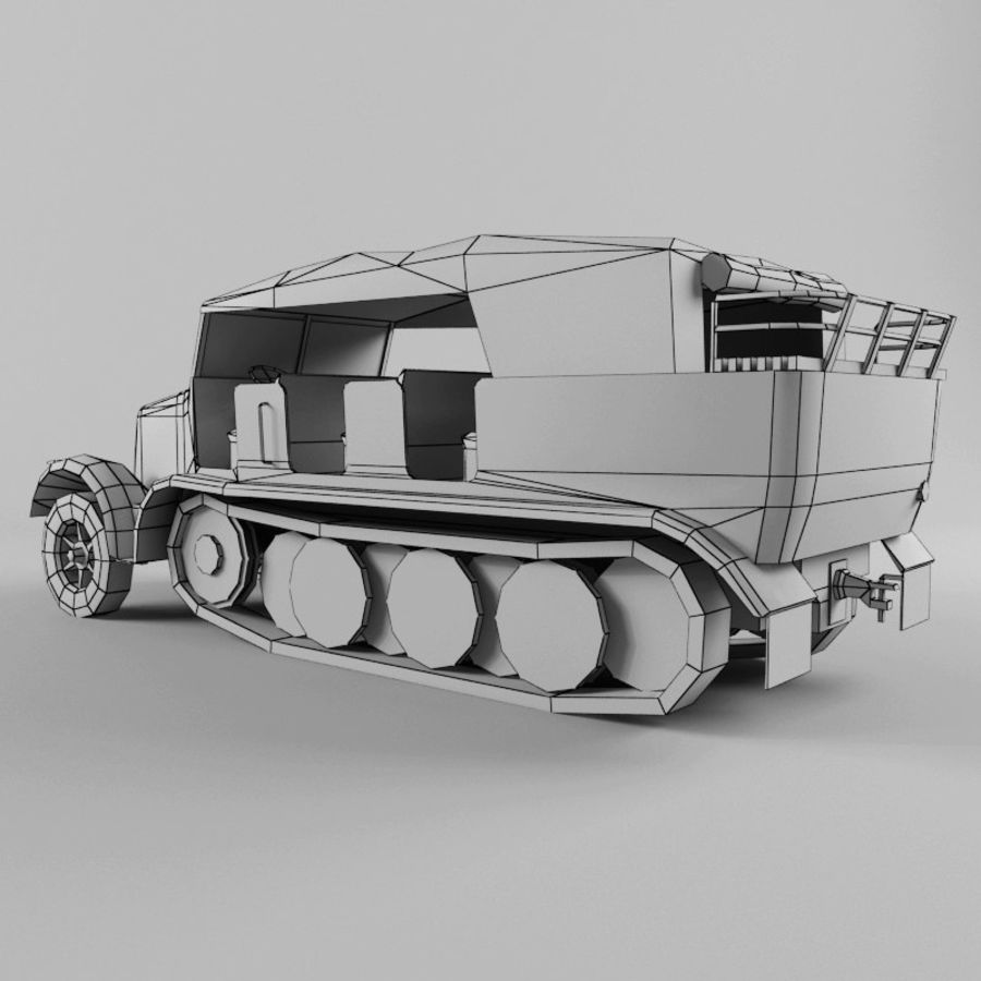 SdKfz 7 royalty-free 3d model - Preview no. 24