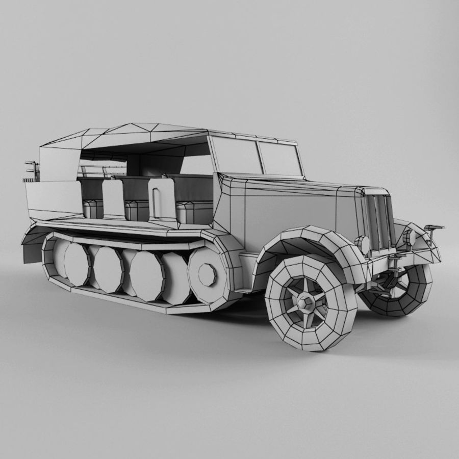 SdKfz 7 royalty-free 3d model - Preview no. 23