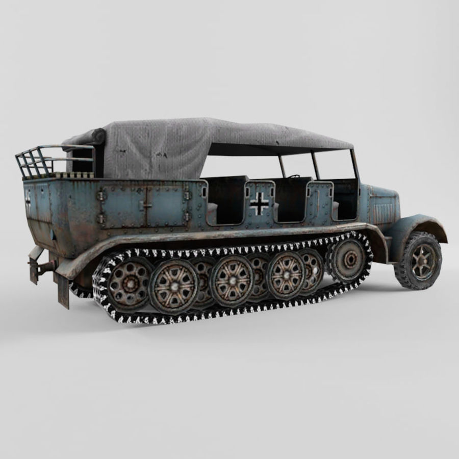 SdKfz 7 royalty-free 3d model - Preview no. 17