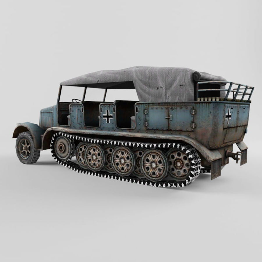 SdKfz 7 royalty-free 3d model - Preview no. 3