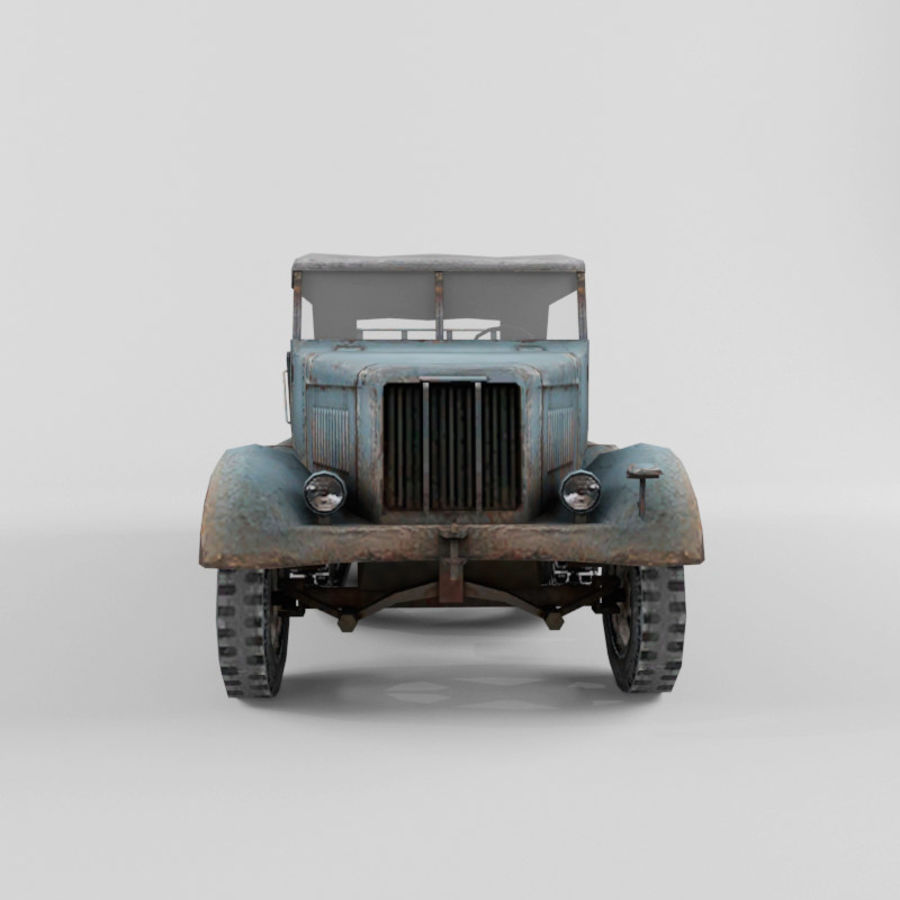 SdKfz 7 royalty-free 3d model - Preview no. 8