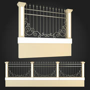 Fence 001 3d model