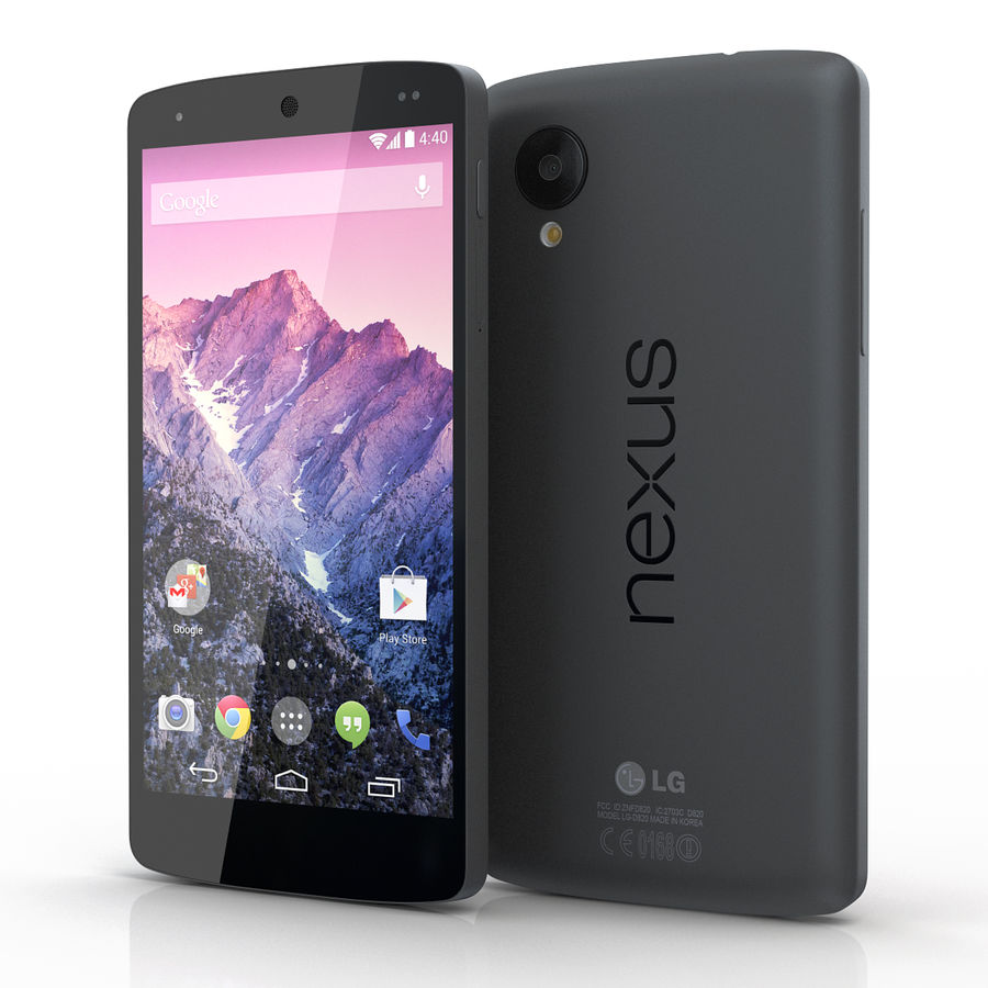 LG Google Nexus 5 royalty-free 3d model - Preview no. 3