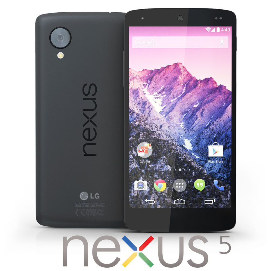 LG Google Nexus 5 royalty-free 3d model - Preview no. 1