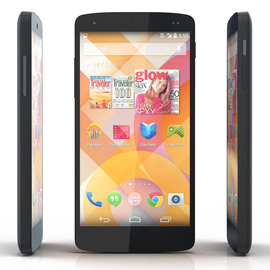 LG Google Nexus 5 royalty-free 3d model - Preview no. 5