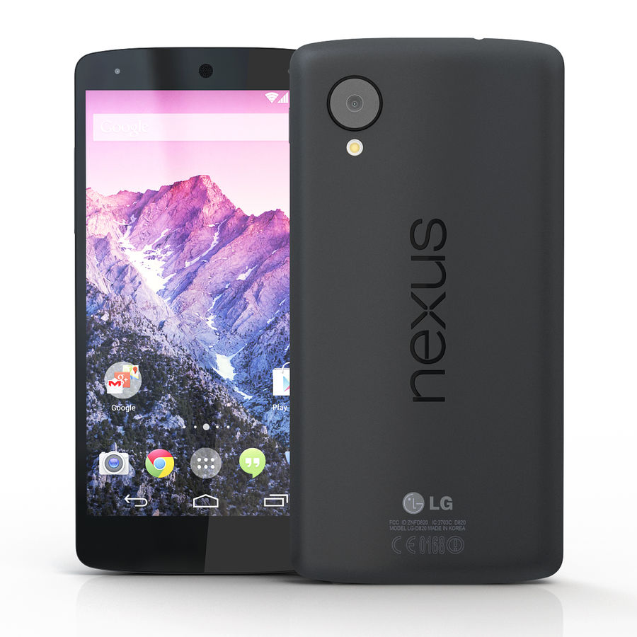 LG Google Nexus 5 royalty-free 3d model - Preview no. 2