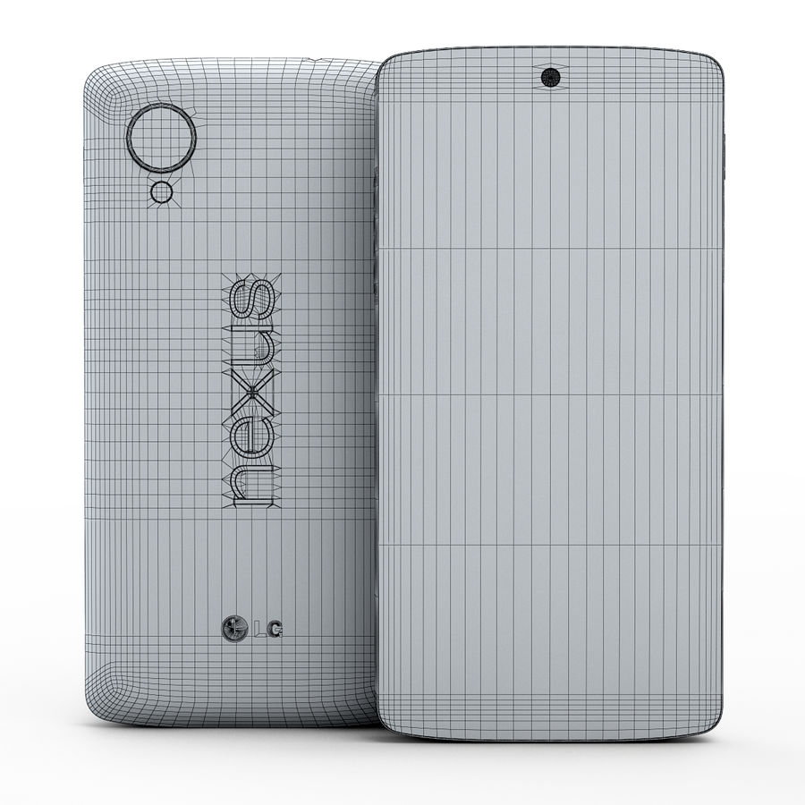 LG Google Nexus 5 royalty-free 3d model - Preview no. 18