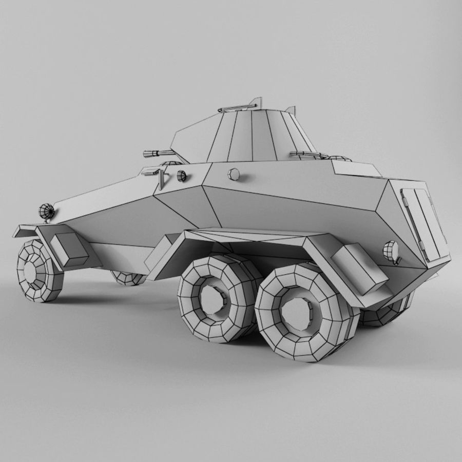 SdKfz 231 royalty-free 3d model - Preview no. 12