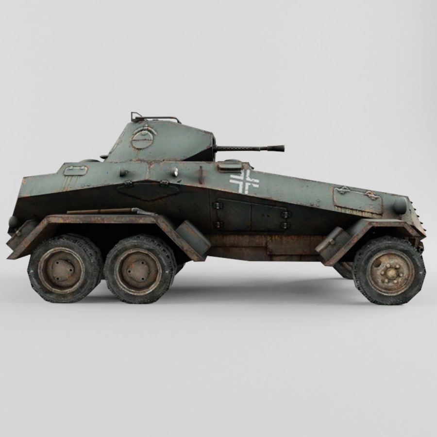 SdKfz 231 royalty-free 3d model - Preview no. 6