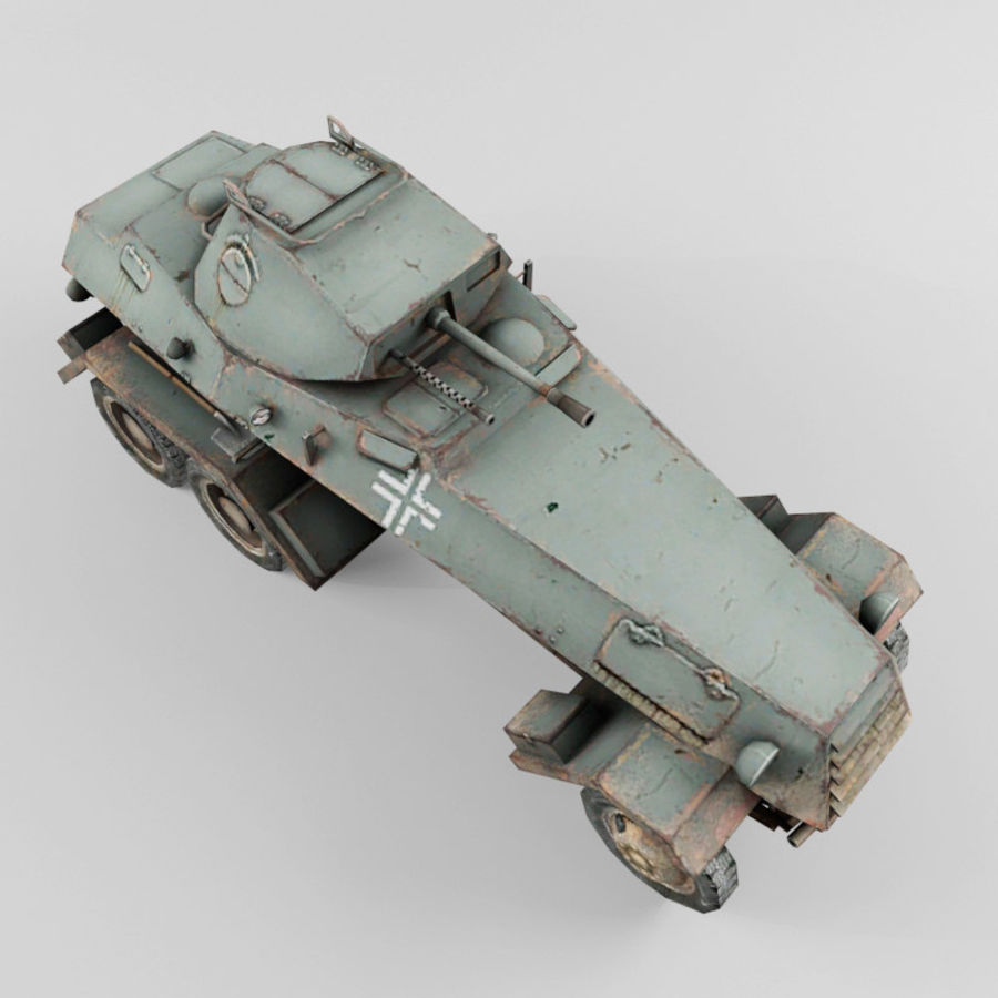 SdKfz 231 royalty-free 3d model - Preview no. 9