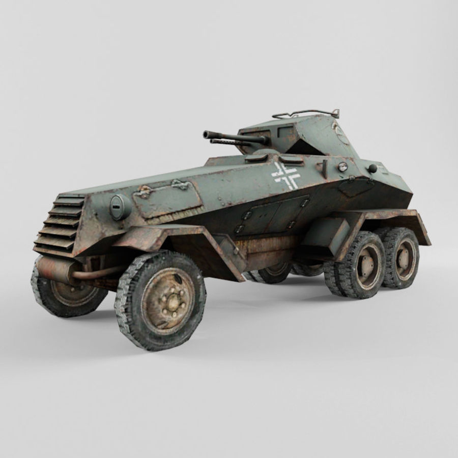 SdKfz 231 royalty-free 3d model - Preview no. 1