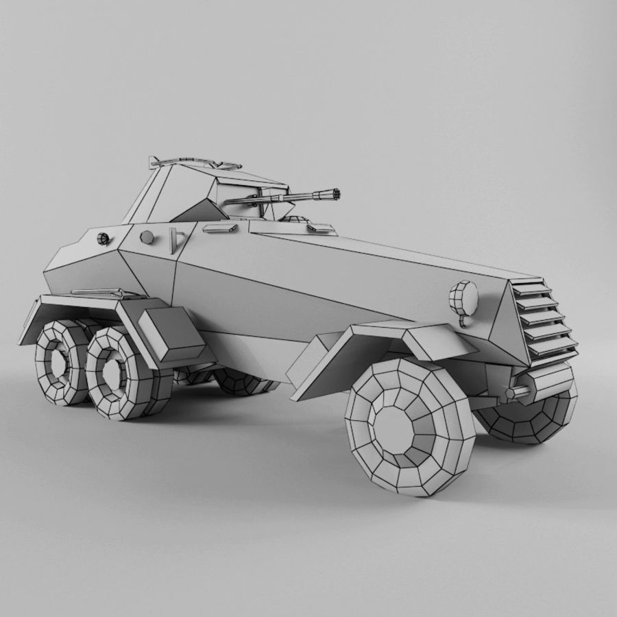 SdKfz 231 royalty-free 3d model - Preview no. 11