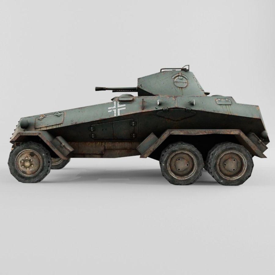 SdKfz 231 royalty-free 3d model - Preview no. 2