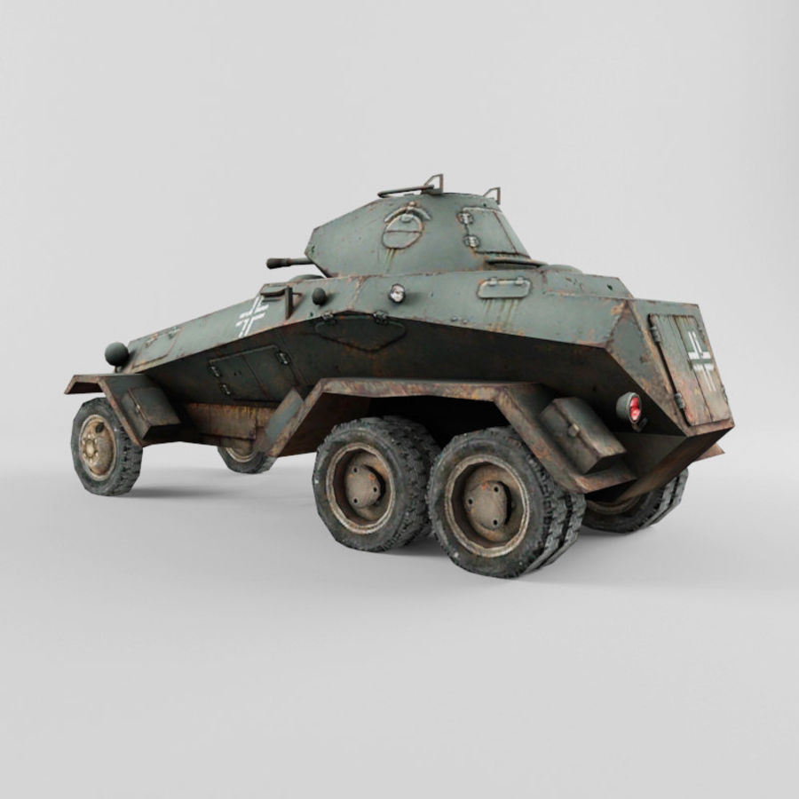 SdKfz 231 royalty-free 3d model - Preview no. 3
