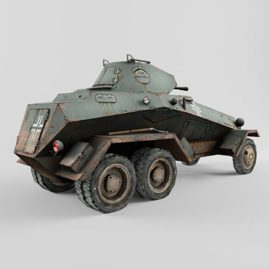SdKfz 231 royalty-free 3d model - Preview no. 5