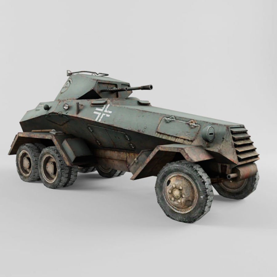 SdKfz 231 royalty-free 3d model - Preview no. 7