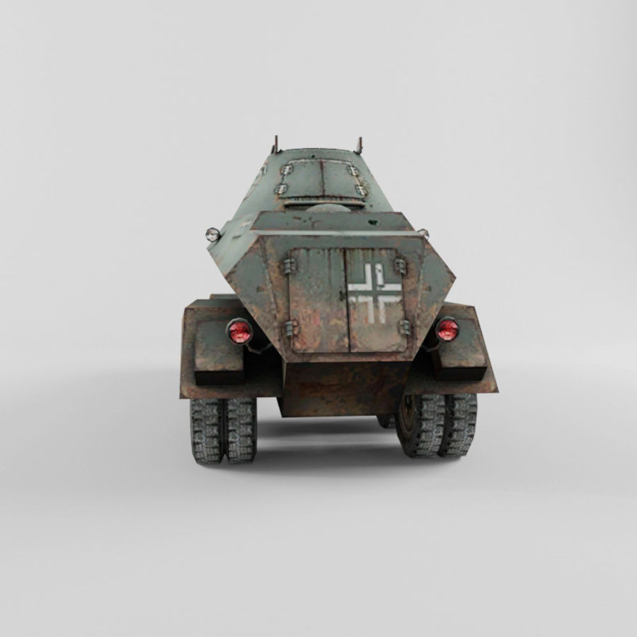 SdKfz 231 royalty-free 3d model - Preview no. 4