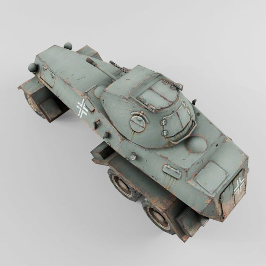 SdKfz 231 royalty-free 3d model - Preview no. 10