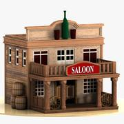 Cartoon Western Building 4 (Saloon) 3d model