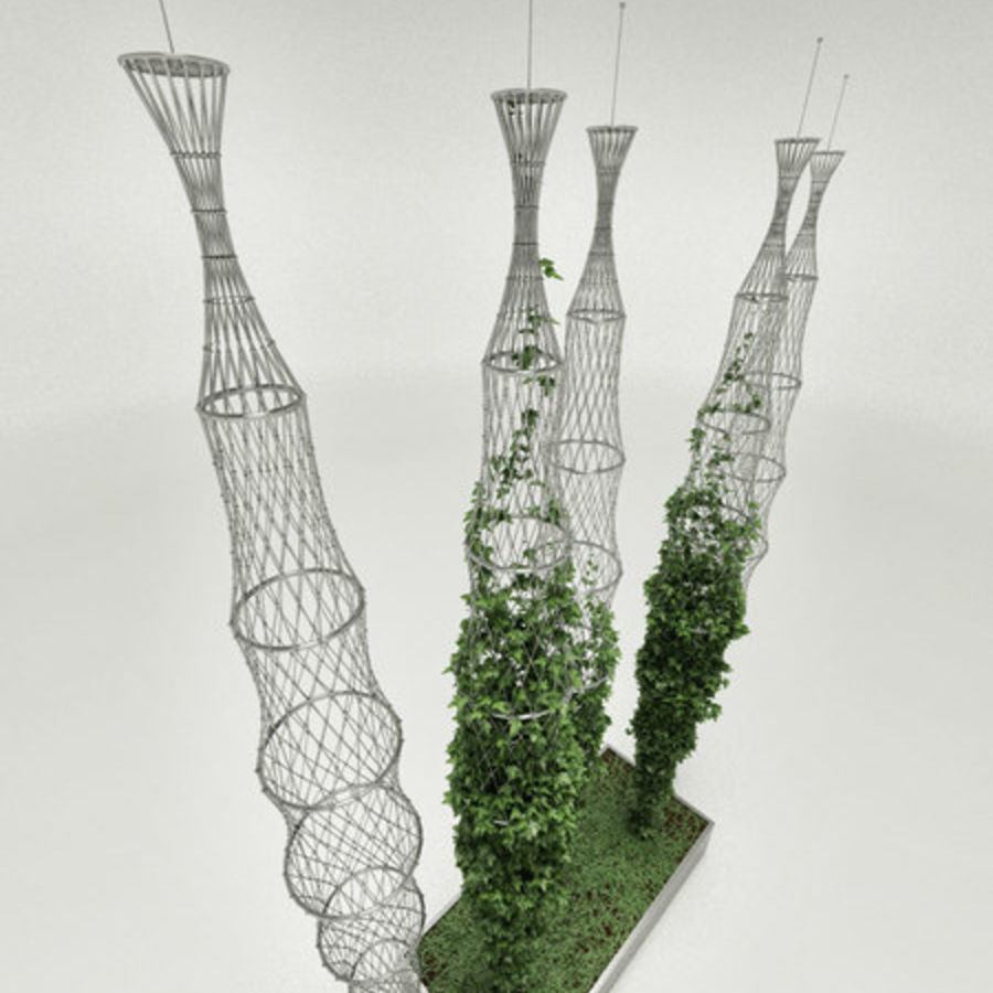 Ivy basket royalty-free 3d model - Preview no. 3