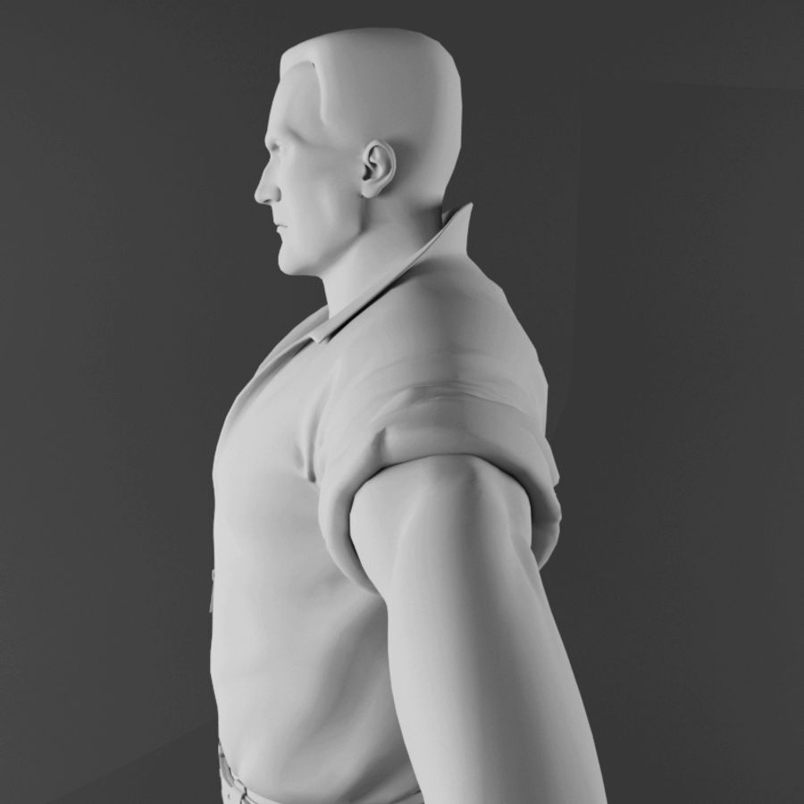 Man royalty-free 3d model - Preview no. 11