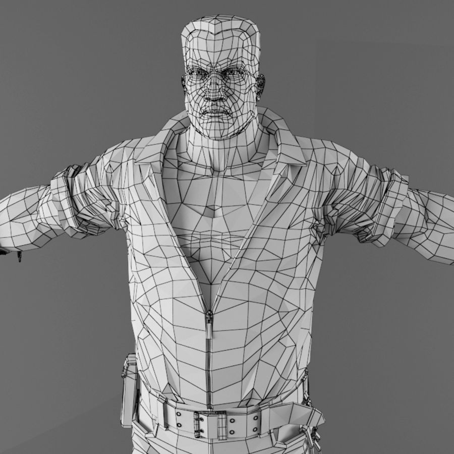 Man royalty-free 3d model - Preview no. 18